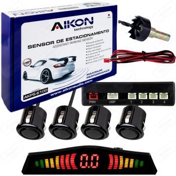 SENSOR ESTAC. AIKON AKPS-6100 PRETO 4SENS /BIP /DISP  *18.5MM*