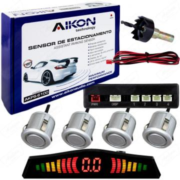 SENSOR ESTAC. AIKON AKPS-6100 PRATA   4SENS /BIP /DISP  *18.5MM*