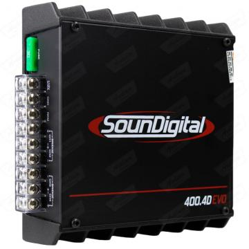 MODULO SOUNDIGITAL SD400.4 BLACK   4CH 400RMS (SEM GARANTIA)
