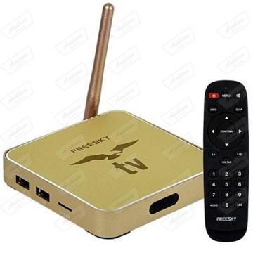 RECEPTOR FTA FREESKY IPTV DOURADO 4K