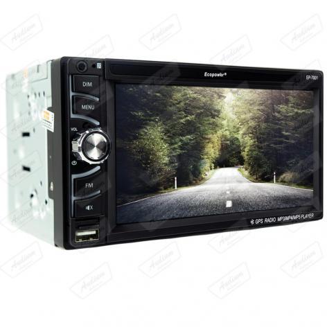 CAR 2 DIN S /MECAN. ECOPOWER EP-7001 GPS /BT /USB /SD 6.5 CAMERA