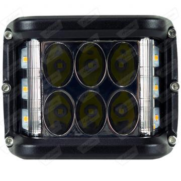 REFLETOR *LED PLUS C0036 QUADRADO + PISCA (PAR)