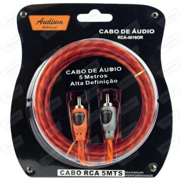 CABO RCA (5M) AUDIUM RCA-4016 **LARANJA**