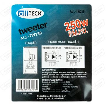 TWEETER ALLTECH ALL-TW250  250W