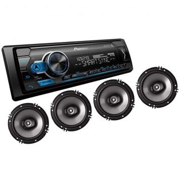 CAR /AUDIO PIONEER KIT MXT-S3166BT RADIO + 4 FAL. 6 S /CONT. 2 PRE OUT